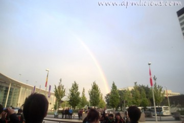 Was awesome to end the gaming part of the day with a pretty rainbow! :O