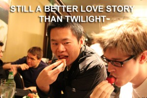I guess we know what GoDz thinks of Twilight. XD