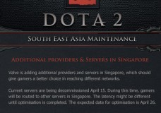 Dota 2 SEA Server Maintenance (April 15+)